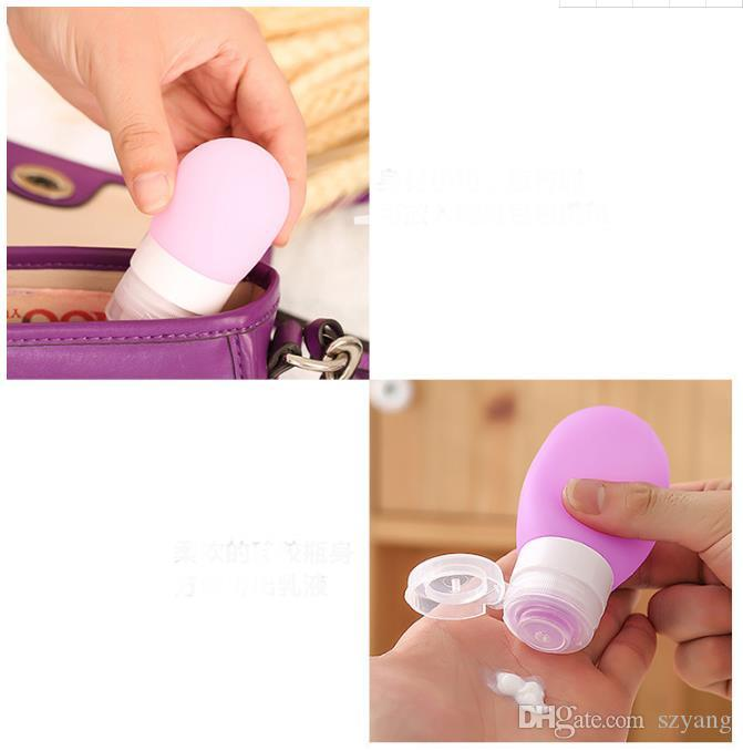 New Arrival 38ml Portable Mini Silicone Bottle Travel Lotion Points Shampoo Container Refillable Bottles
