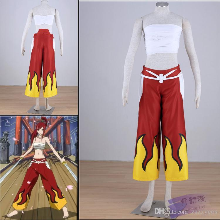 Fairy Tail Erza Scarlet Bandage Women S Cosplay Costume Female Anime Cosplay  Midevil Costumes From Zazzycos bbcd5679a7