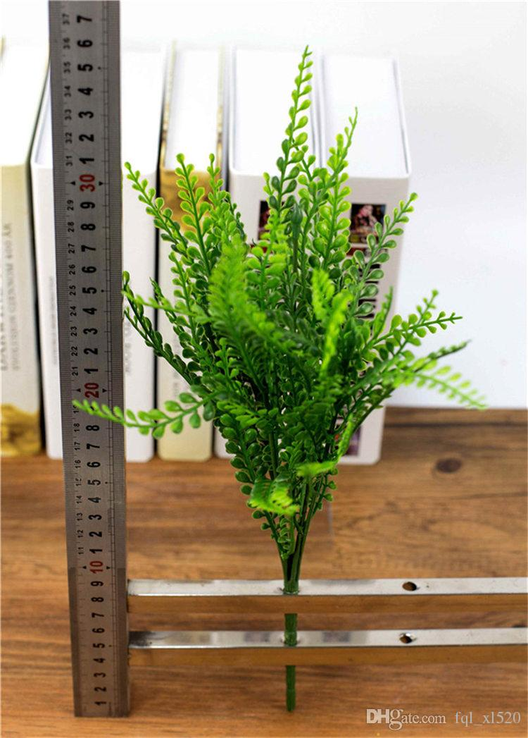 Phoenix Grass Plastic Artificial Plant 7-branch 30cm Length Home Office Garden Urban Engineering Decor Decoration Plants