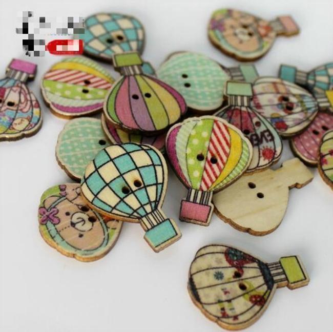 WB-20 Оптовая продажа 100 шт. Mixcolor огонь balloo окрашенные Wodden кнопки два отверстия деревянные кнопки декоративные кнопки швейные ремесла швейные аксессуары для одежды