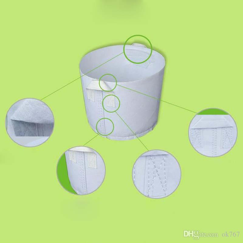 Reusable Round Non-woven Fabric Pots Plant Pouch Root Container Grow Bag Aeration Container Garden Supplies pot