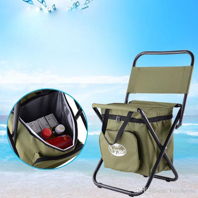 Heavy Duty Folding Camping Chair With Cooler Bag Cheap