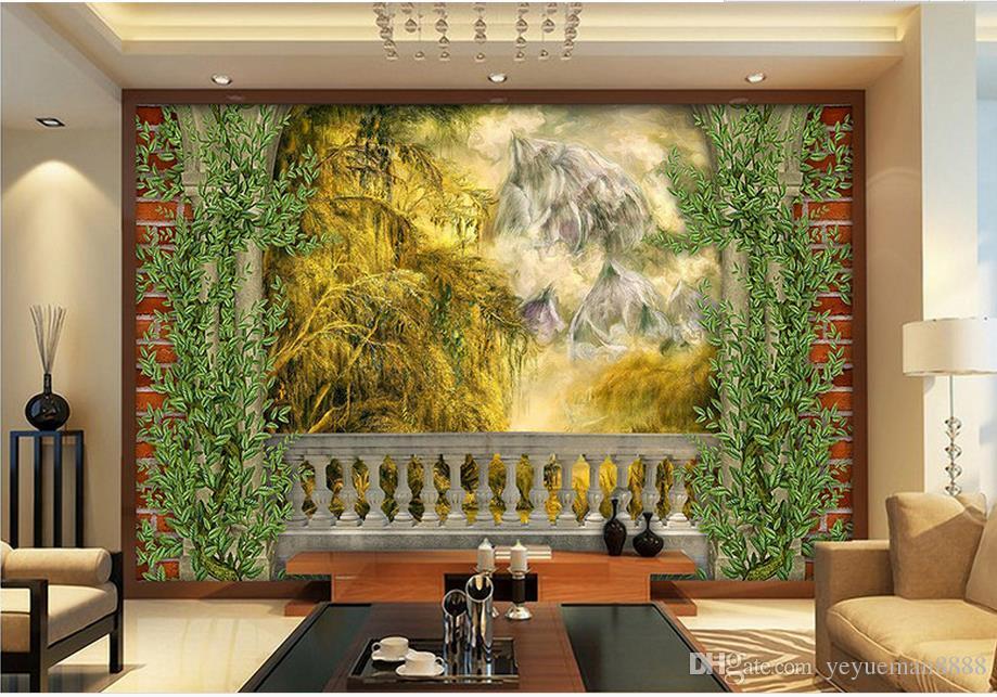 Perfekt Großhandel Benutzerdefinierte Tapete Rolle Rainforest Malerei Landschaft 3d  Foto Wandbild Tapeten Für Wohnzimmer Modern Von Yeyueman8888, $23.11 Auf De.