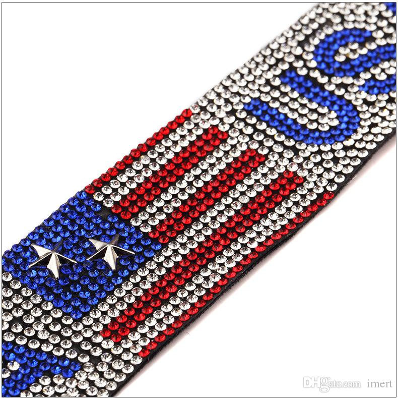New Explosive Star Tide Singer Nightclub USA USA Hot Diamond Bracelet Bracelet Hiphop Hip Hop Jewelry Independence Day Jewelry