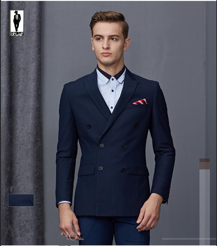 c54e471e662 2019 Wholesale UR 32 Slim New Party Gentlemen Handmade Plus Size Costume  Homme Blazer Tuxedo Wedding Men Custom Made Men Suit Jacket Clothes From  Longmian