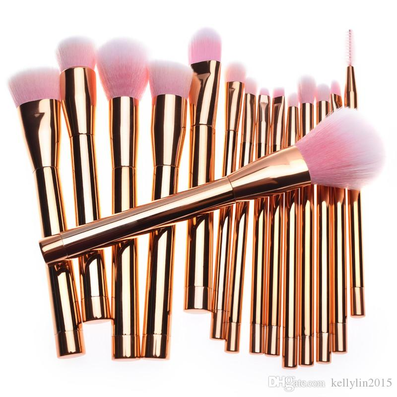 Pro Makeup Brushes Set Powder Foundation Cosmetics brush Gold Purple Make Up Brushes Kit High quality