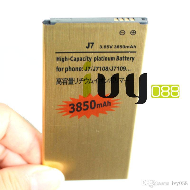 2X 3850mAh EB-BJ710CBC الذهب استبدال البطارية + شاحن للحصول على 2016 الطبعة سامسونج غالاكسي J7 J7108 J7109 SM-J708 J7008 J7009 J700F