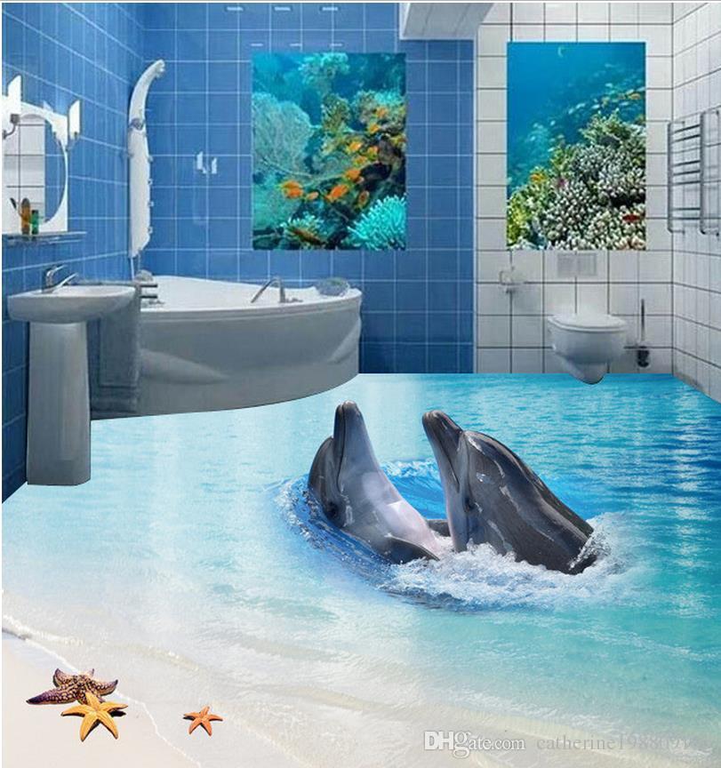 High Quality Costom 3d Floor Stickers Marine World