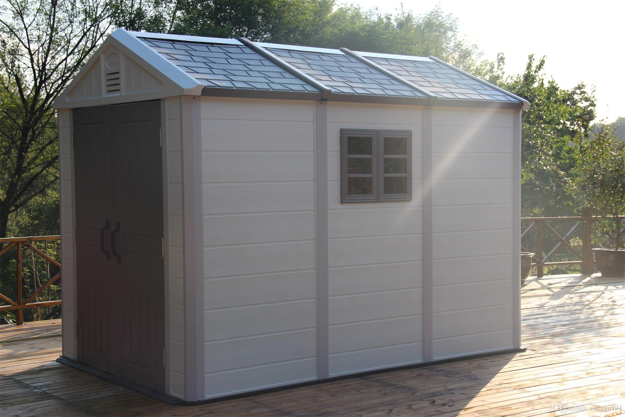 2018 outdoor prefabricated plastic houses easy assemble for Outdoor storage sheds for sale cheap