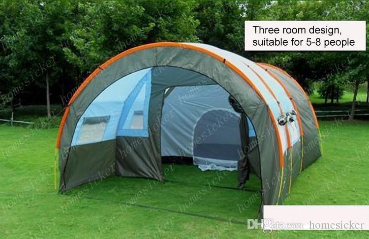 Vendre comme des petits pains chauds poursuit en justice les 5 ~ 10 personnes Camping familial Randonnée Partie 2 Tentes Chambre Grand 1 Hall Tente tunnel étanche événement Tentes plage