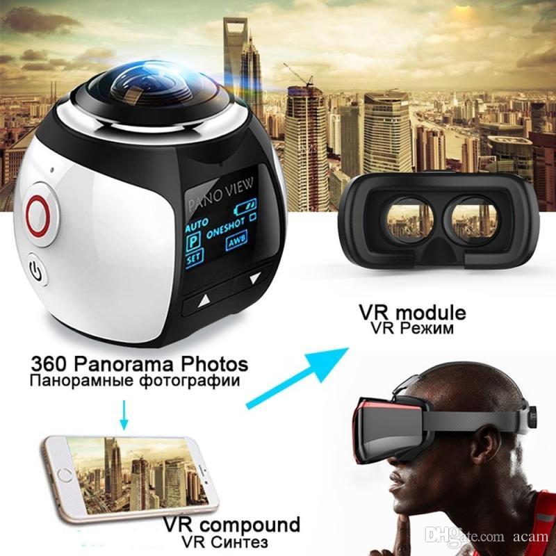 V1 4K WiFi Sport Kamera Wireless 360 Grad Panorama Kamera 3D VR Aktion Sport Kamera Wifi 16MP HD 30fps Wasserdichte Mini DV Camcorder