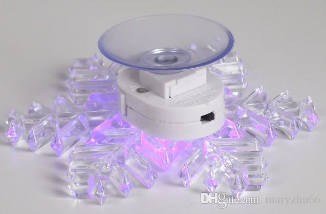 Renk Değiştirme Akrilik LED Şenlikli ışıklar Pencere Sucker kar tanesi