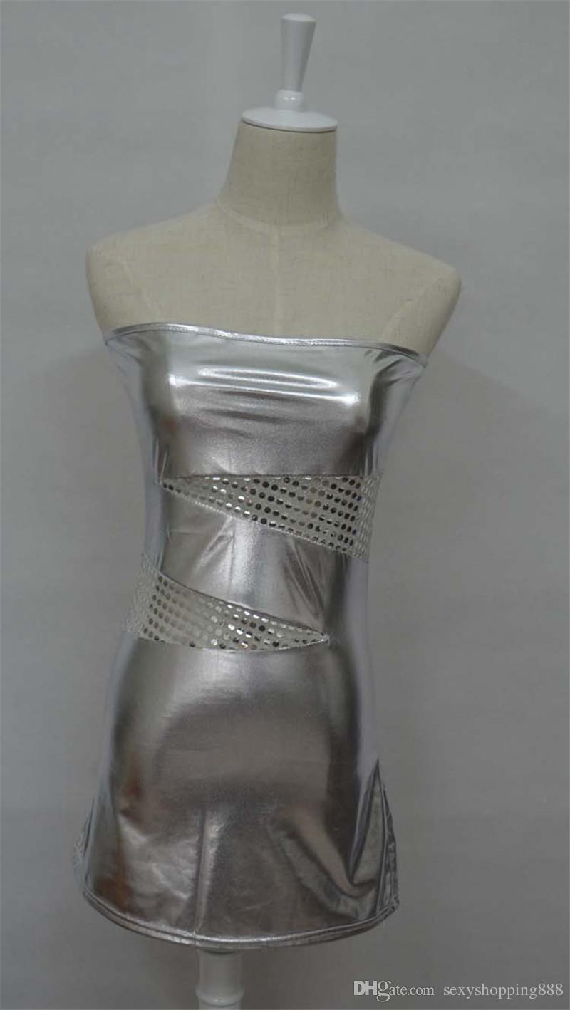 M XXXL Plus Size Women Sexy Lingerie Fetish Bodycon Dresses Pole Dance Night Club Costume Erotic Underwear Strapless Vestidos