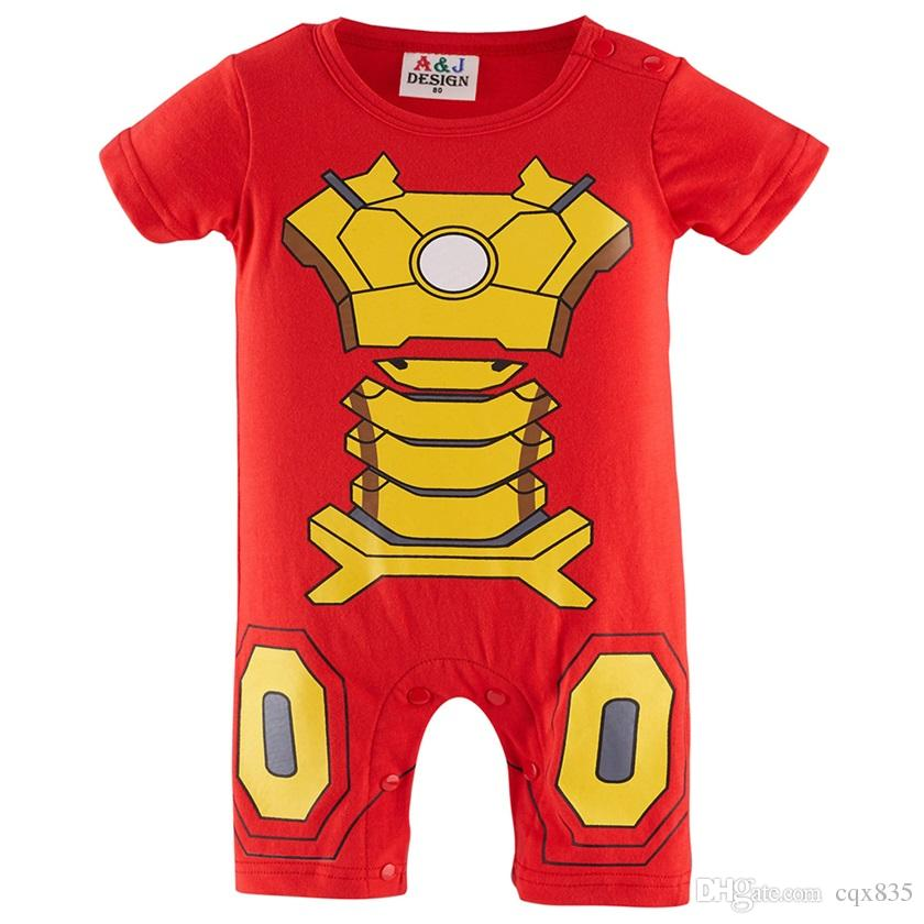 2019 Baby Boy Iron Man Funny Costume Infant Toddler Summer Jumpsuit