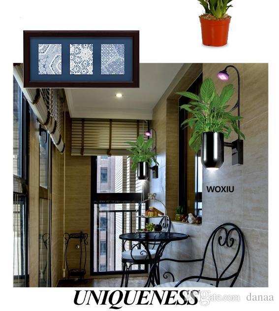 Woxiu planta دي لوس دي باريد هدية النبات ينمو أدى أضواء الطيف قطاع مصباح 8 واط المائية الحوض للماء داخلي الجدار الديكور