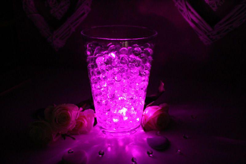 Украшение свадебного стола Верхняя часть стола Центральная светодиодная лампа с кристаллами Aqua Vase Круглая водонепроницаемая лампа Светодиодное освещение
