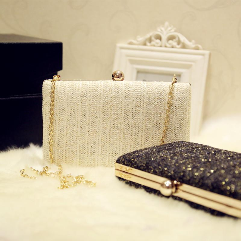 Wholesale 2017 White Black Clutch Bags Woman Evening Bag Best Selling  Clutches Wallet With Chain Wedding Purse Party Banquet Leather Bags  Shoulder Bags From ... 305b634f1