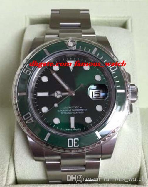 New Fashion Luxury Edelstahlarmband NEU 116610 Ceramic Green Box New Style Weißarmband 40mm Automatic MAN UHR Armbanduhr