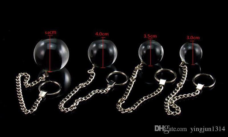 زجاج المهبل الكرة 5 الحجم الشرج الخرز كرات الجنس لعبة كريستال بوت الخرز المكونات للنساء الرجال الكبار لعبة كيجل الجيشا الذكية الكرة