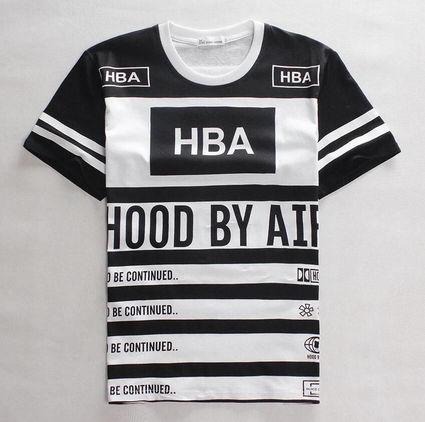 710b0b8ba2d DHL HBA Number 55 T Shirt Men Hood By Air T Shirt Short Sleeve Hip Hop Tee  T Shirt Camiseta Masculina 3d Hip Hop Clothing 10 T Shirts Cool Shirts  Designs ...