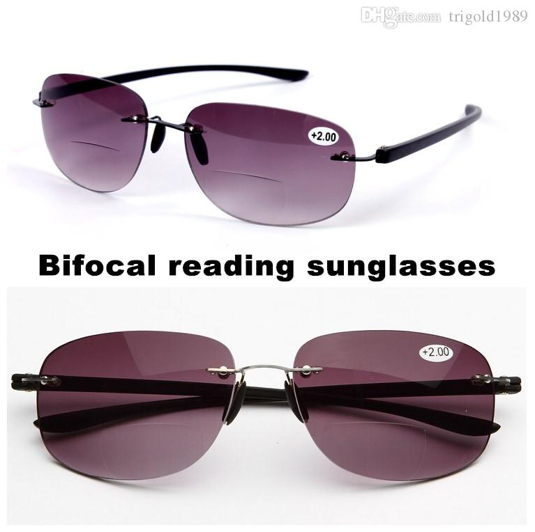 2017 Rimless Bifocal Reading Sunglasses Men And Women Reading Glasses  Outdoor Fishing Sunglasses +1.0+1.5+2.0+2.5+3.0+3.5 UK 2019 From  Trigold1989 bf6fe32b7804