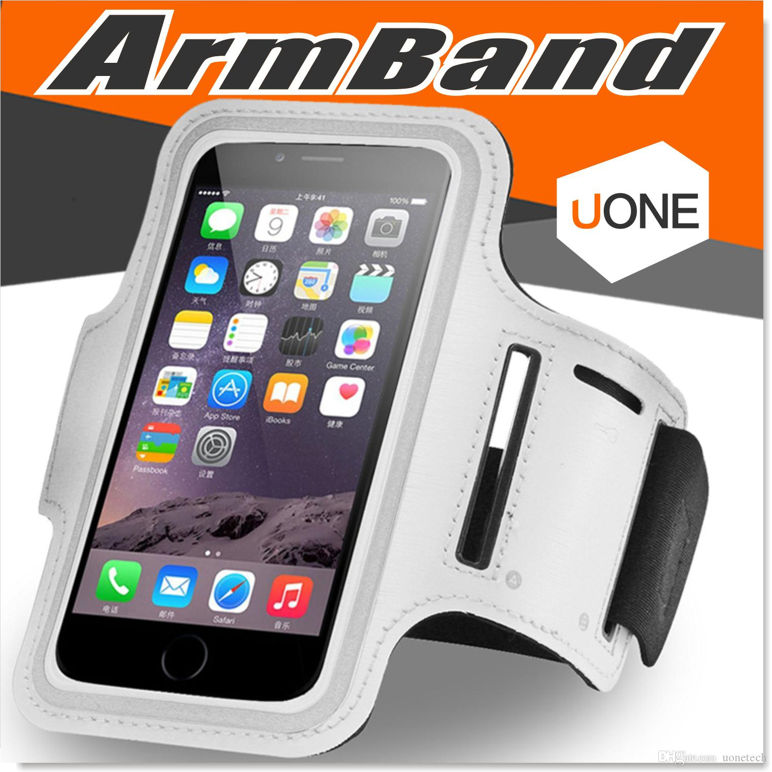 new style a9630 9e819 For Iphone 7 6 6s Plus Armband case Waterproof Sports Running Case bag  workout Armbands Holder Pounch For Samsung Cell Mobile Phone