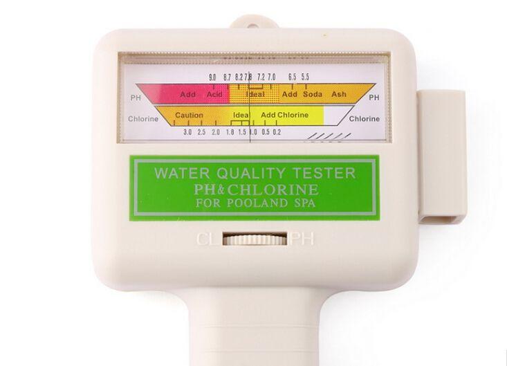 fedex dhl sıcak Su Kalitesi PH tarafından serbest / CL2 Klor Test Seviye Ölçer Yüzme Havuzu Spa