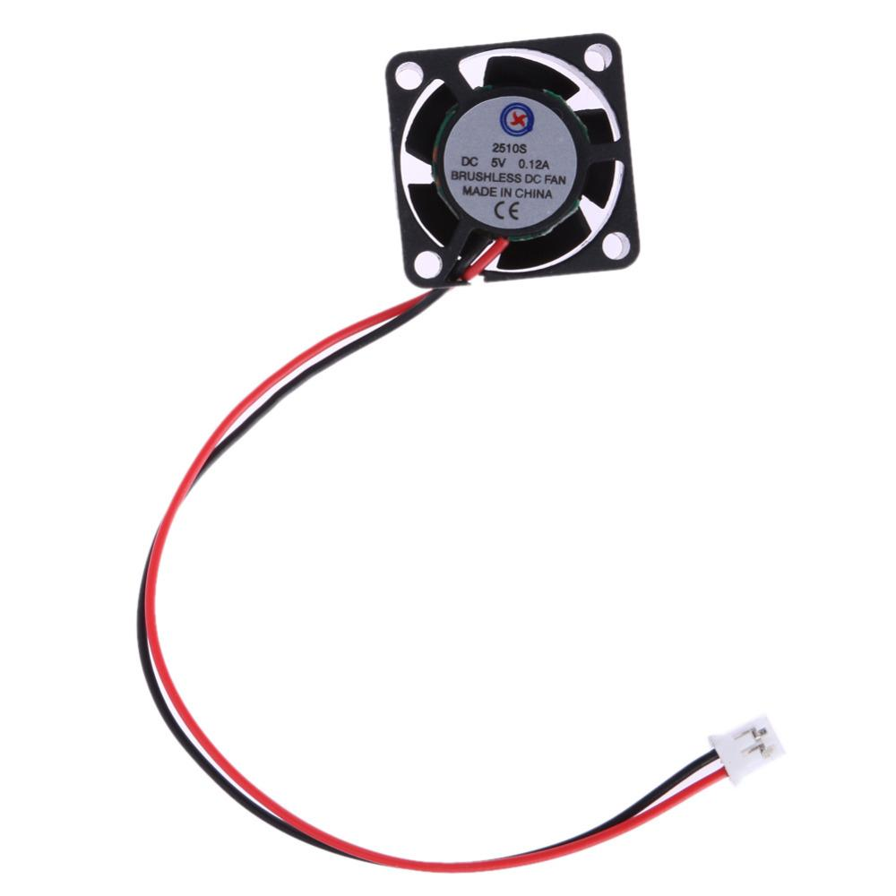 Wholesale- 100% Brand new 5V Cooler Fan Brushless DC Fan 25*10mm Mini Cooling Fan Radiator