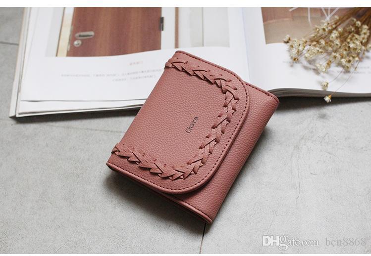 2017 Новое Прибытие ! Вязание короткие женщин бумажник качество искусственная денежные мешки мода сумки карта держатели женщины сцепления мешок