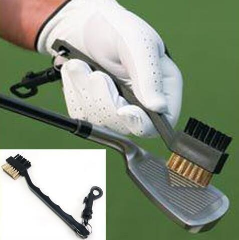 Двойные щетины для гольфа Club Color Cleans Cleans Ball 2 Way Clean Clip Clip Легкие портативные портативные для обучения для гольфа СПИД практика оборудования