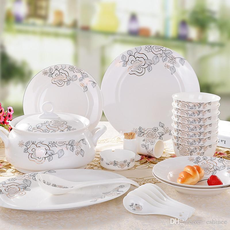 New Year Hot Sale Fine Bone China Dinnerware Sets Gifts Spring Breeze Dinnerware Sets Sale Dinnerware Sets Sale Clearance From Eshinee $125.63| Dhgate.Com & New Year Hot Sale Fine Bone China Dinnerware Sets Gifts Spring ...