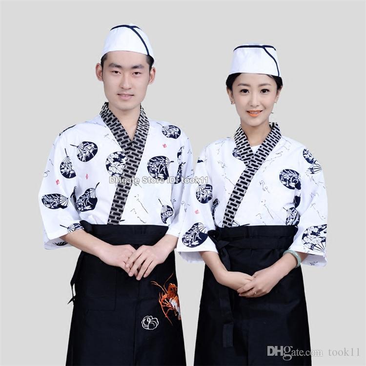 Mode femmes sushi chef uniformes hommes restaurant uniformes de serveuse coréen japonais chef café hôtel service alimentaire cuisinier costume pâtisserie vêtements