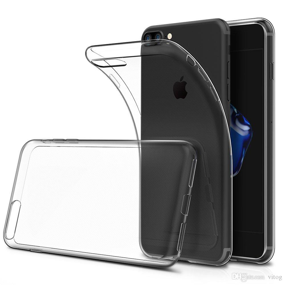 For Iphone X 8 7 S8 plus Samsung S7 0.5MM Crystal Gel Case for iPhone 6s Plus Ultra-Thin transparent Soft TPU Cases Note 8 Clear Cases