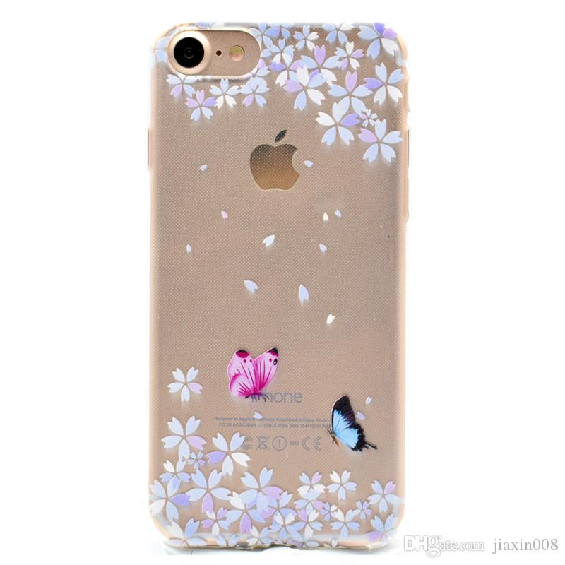 b4698feaab Transparent TPU Cover For IPhone 7 Case Fashion Tower Bike Butterfly Girl  Feather Design Mobile Phone Cases For IPhone 8 Cell Phone Case Covers  Uncommon ...