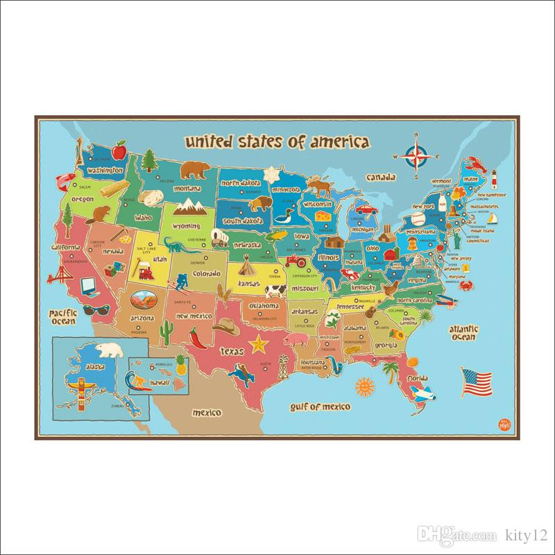United State Map Wall Decor Colorful America Map Wall Stickers Room on calendar stickers, kentucky stickers, hawaii map stickers, usa patchwork map stickers, wyoming stickers, barbados map stickers, mississippi stickers, states visited maps stickers, north carolina stickers, united states state abbreviations,