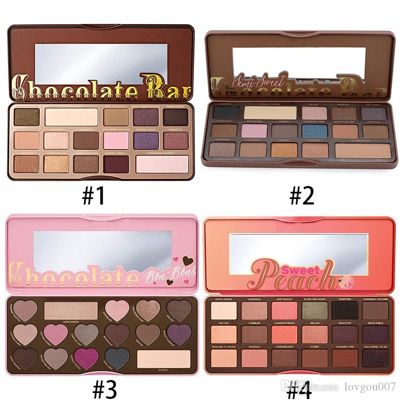 Stocking! Makeup Chocolate Bar Eyeshadow semi-sweet Sweet Peach Bon Bons Palette 16 Color Eye Shadow plates