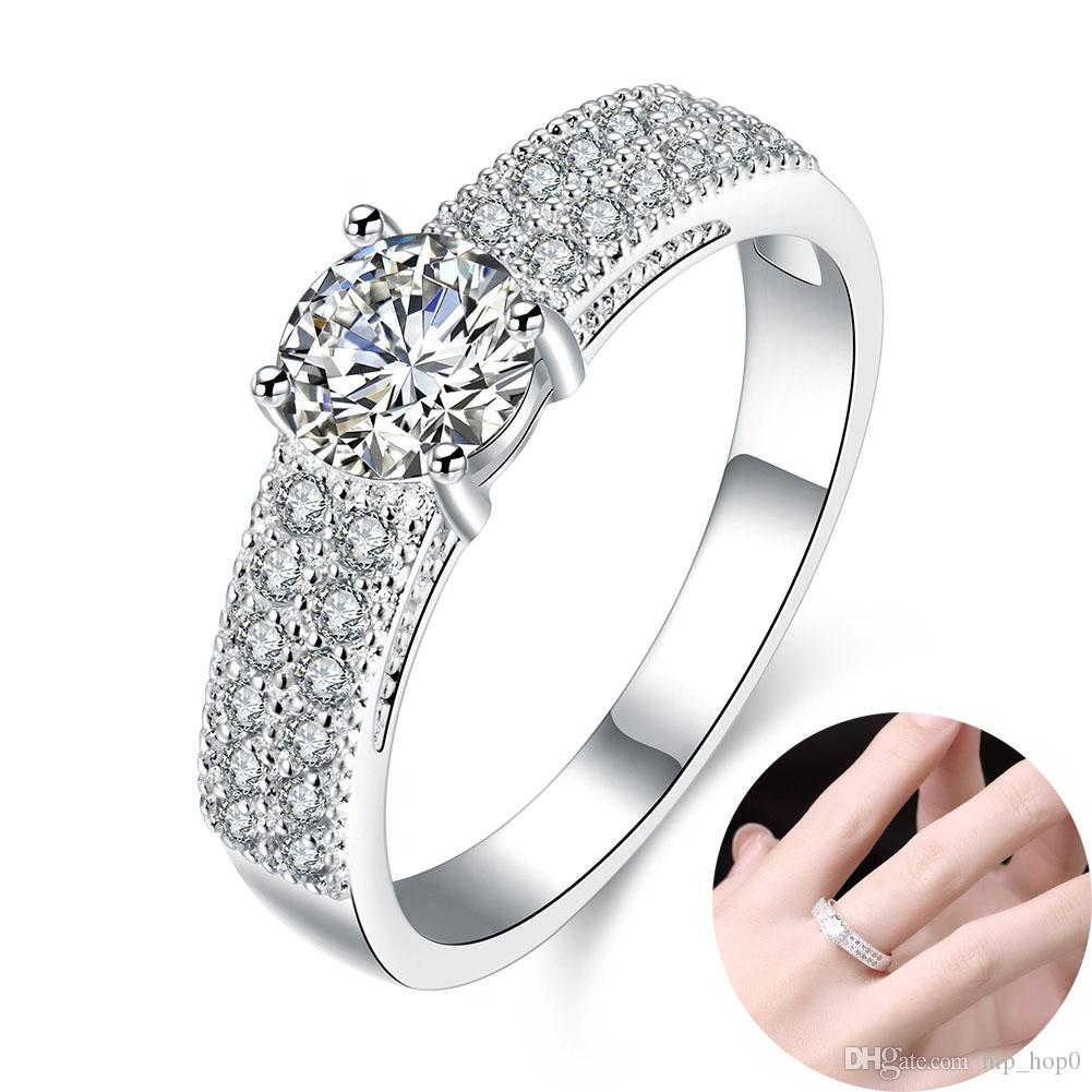 bijoux shipping in accessories big for engagement from rings ring men wedding stone item brilliant bridal women plating platinum jewelry crystal free