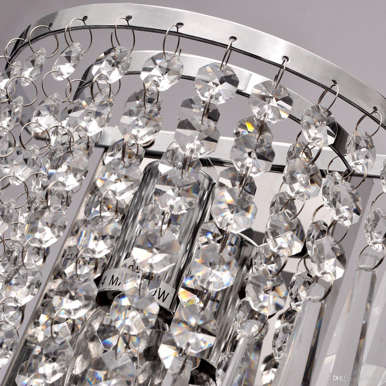 Modernas luces de pared de cristal semicirculares candelabros hogar junto a la cama dormitorio sala de estar lámpara de pared de cristal pasillo escalera luz de bombilla led