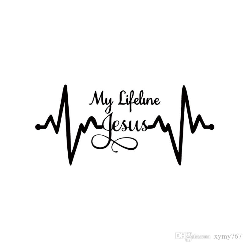 2019 2017 Hot Sale Car Stying My Lifeline Jesus Decal