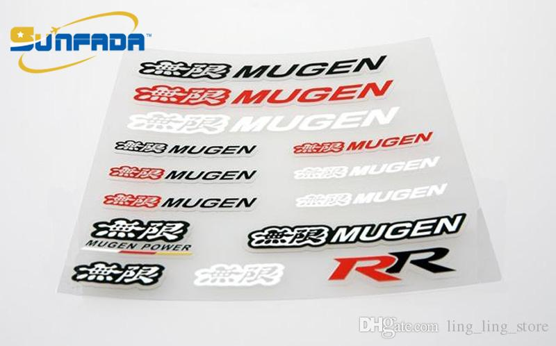SUNFADA Auto-Styling Mugen Power Sticker Decal Accessori Adesivo auto Mugen Honda Accord Civic FIT Jazz CITY ODYSSEY