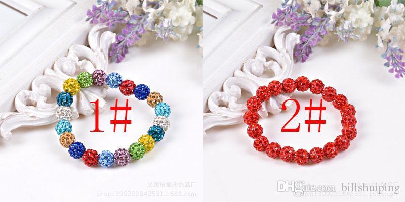 Оптовая новая мода Bling Шамбала браслет бусины диско мяч стенд стрейч браслеты ручной работы ювелирные изделия бесплатная доставка