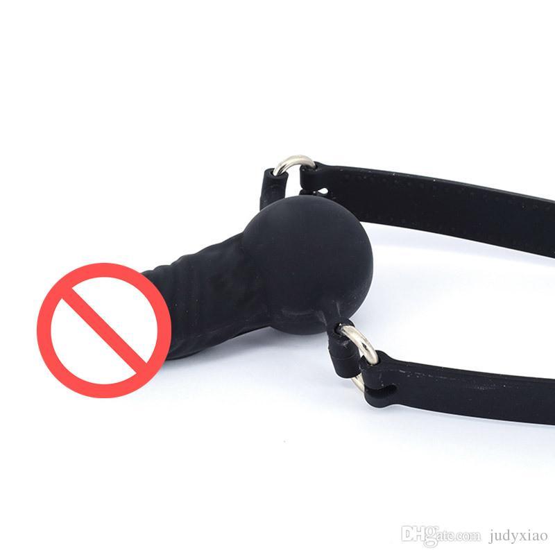 Mund Ball Gag Volle Silikon Penis Gag Mund Biss Plug Dildos Gags Sex Spielzeug Hohe Qualität