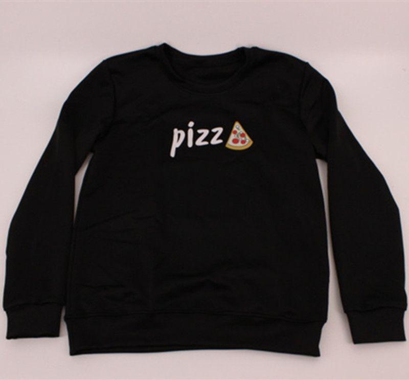 90108e3eb 2019 Wholesale EAST KNITTING FASHION 2017 Harajuku Women Pizza Sweatshirt O  Neck Three Colour Sweatshirt From Sizhu, $27.06 | DHgate.Com