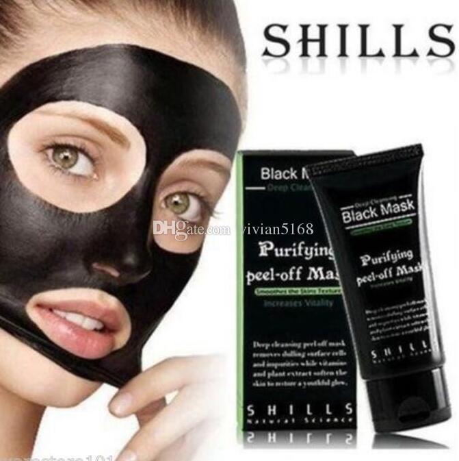 Calidad superior SHILLS Deep Cleansing MÁSCARA Negro 50 ML Máscara Facial Espinilla Shills Peel-off Máscaras de regalo Envío Gratis