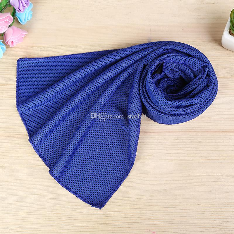 88*33cm Ice Cold Towel Cooling Summer Sunstroke Sports Exercise Cool Quick Dry Soft Breathable Cooling Towel Home Textiles WX-T13