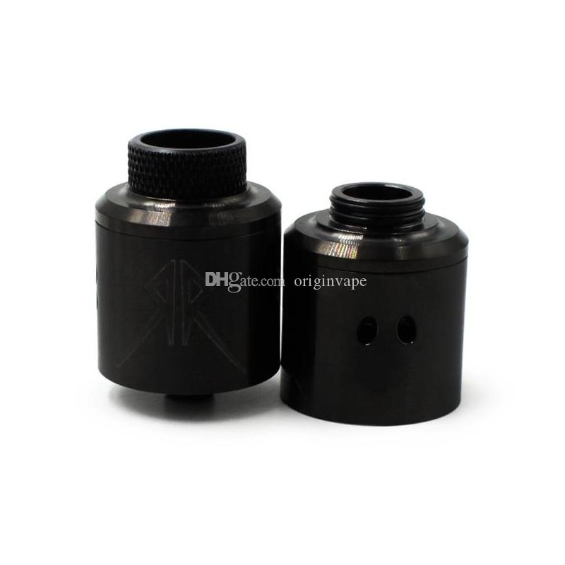 Le Recoil Rebel RDA atomiseur avec bouchon supplémentaire 25mm PEEK isolants 4 couleurs DHL livraison gratuite