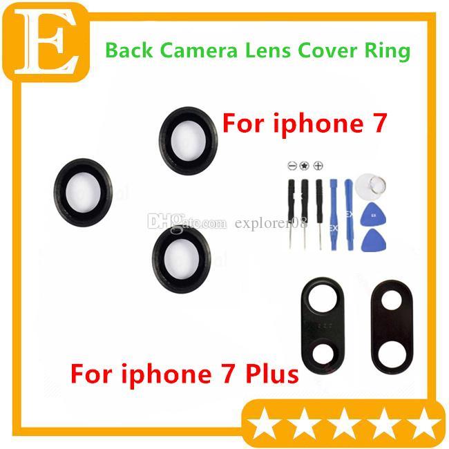10 шт./лот оригинальный объектив камеры стекло с рамкой для iPhone 7G 4.7