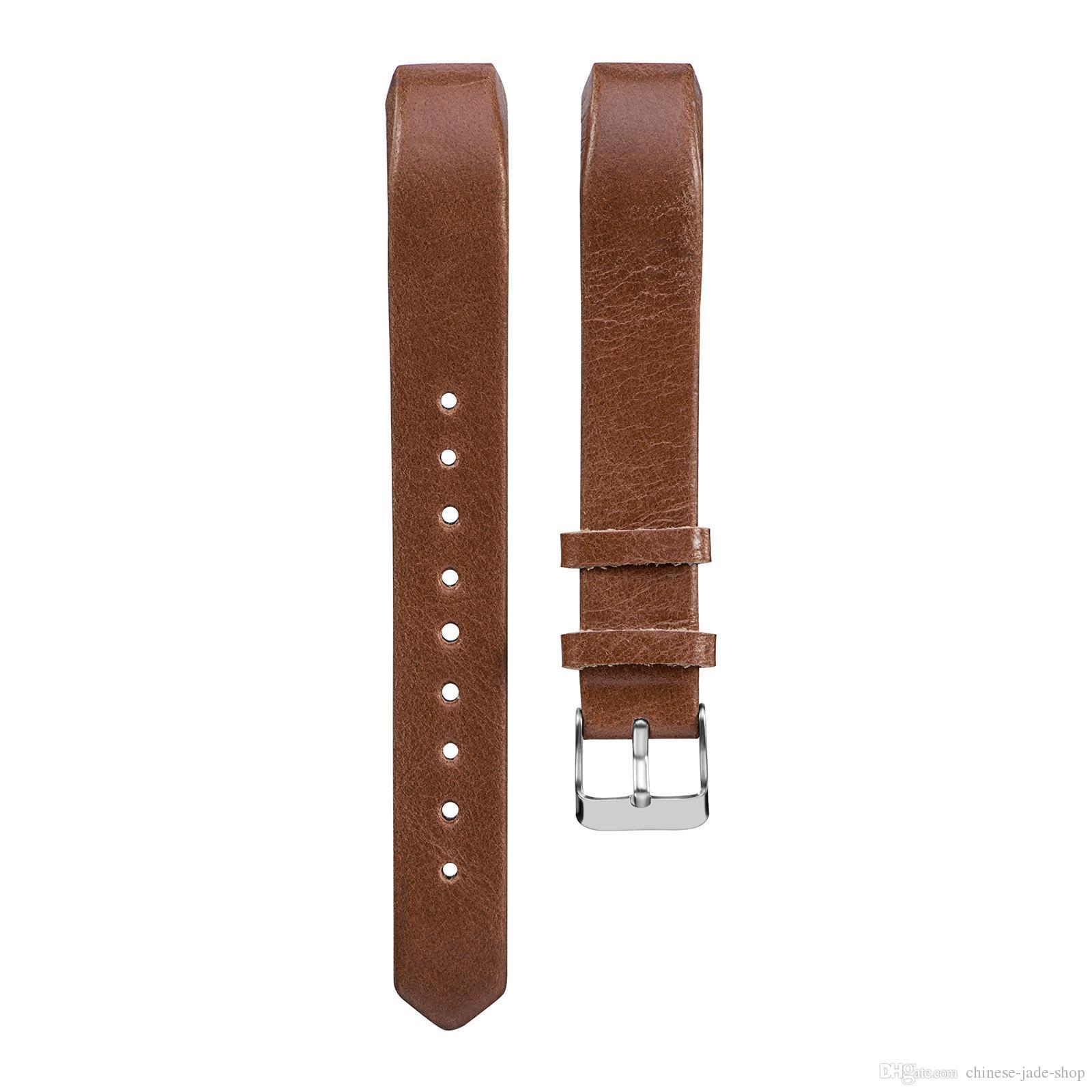 Cinturino in pelle di vacchetta fodera Cinturino in cuoio genuino Fitbit Alta Alta HR Cinturini cinturini Bracciale i /