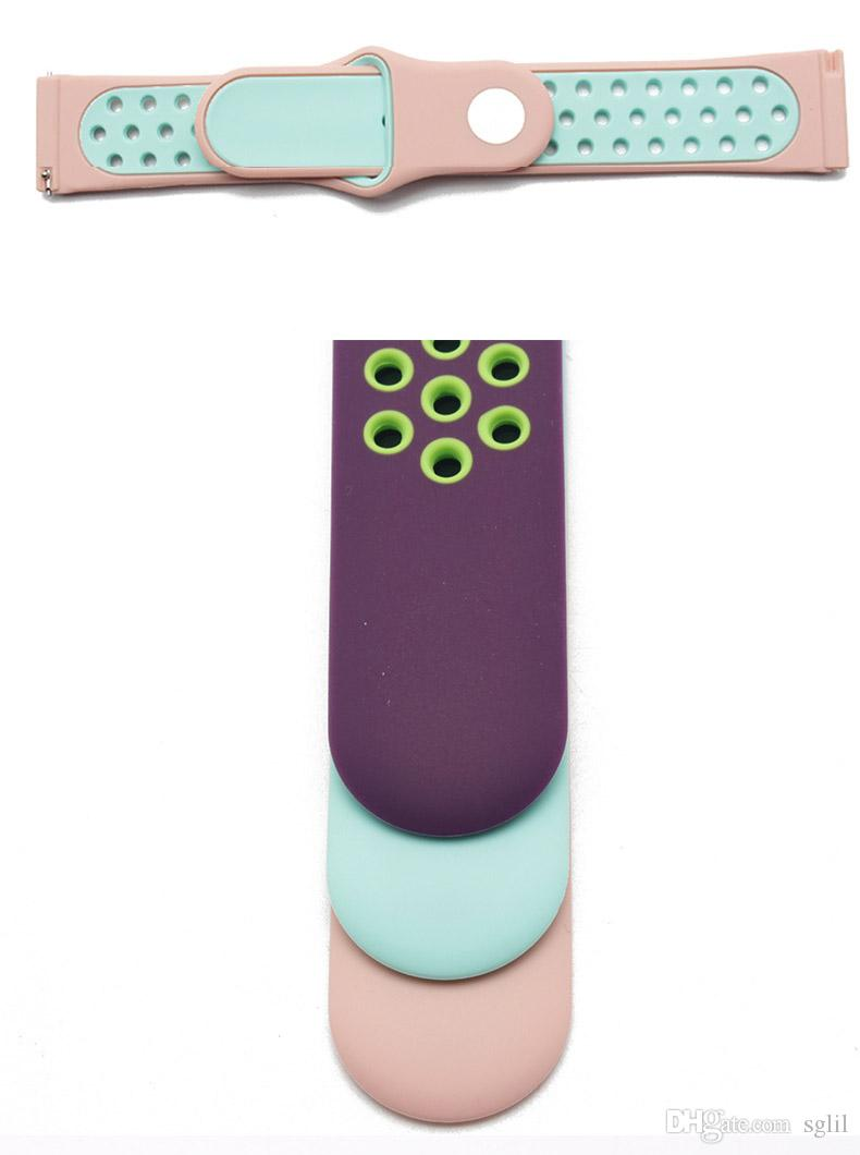 Pour Fitbit Blaze Strap 9 Couleur Bracelet De Sport Respirant Deux Couleurs Injection Moulding Band Bracelet Pour Tracker Smart Watch