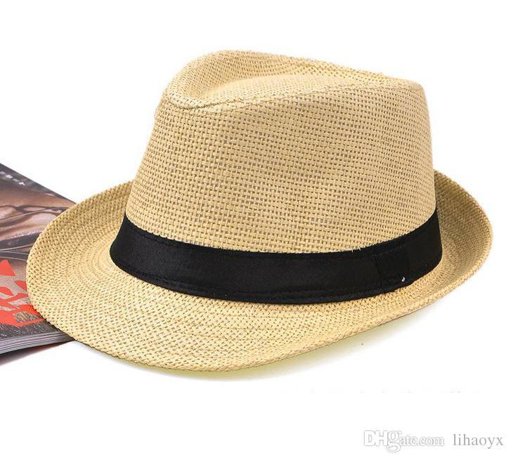 Chaude chaude chapeau de paille féminin fedue Fedora Panama chapeau de jazz chapeau m014